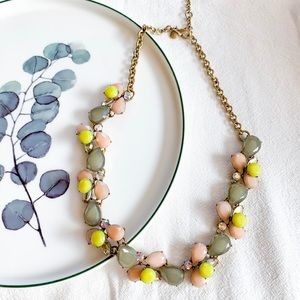 J. Crew Multi Stone Statement Necklace